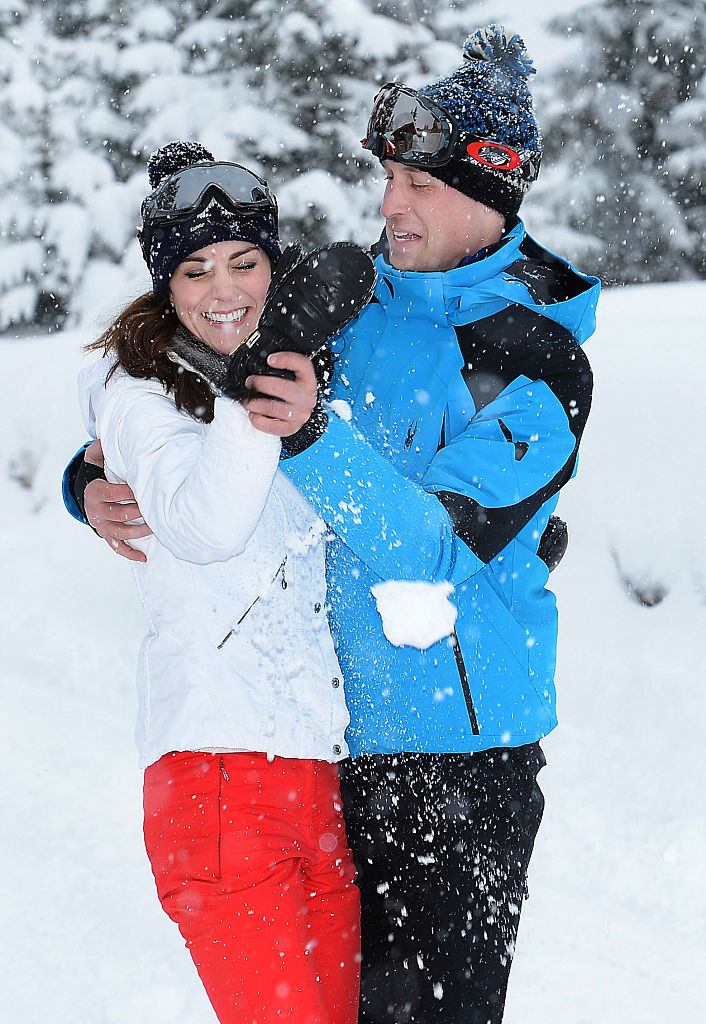 Kate Middleton e William in vacanza sulla neve, le foto