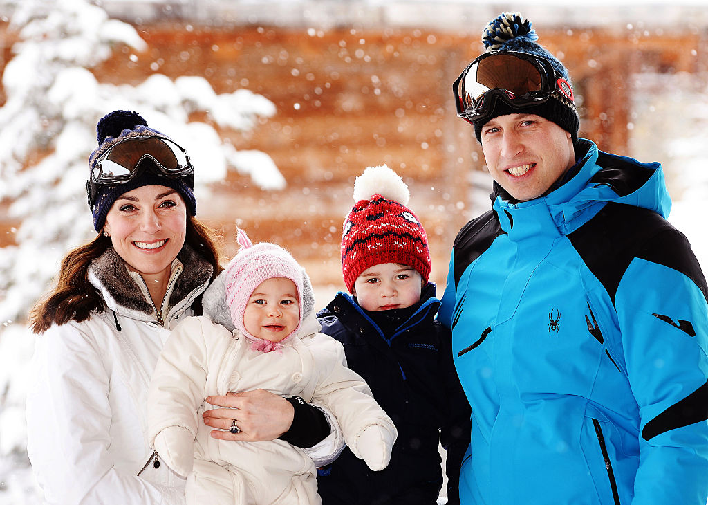 Kate e William in vacanza sulla neve con George e Charlotte