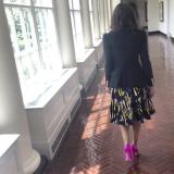 Sarah Jessica Parker: blazer e pump rosa (da @sarahjessicaparker)