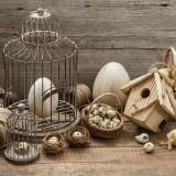 Centrotavola di Pasqua rustico