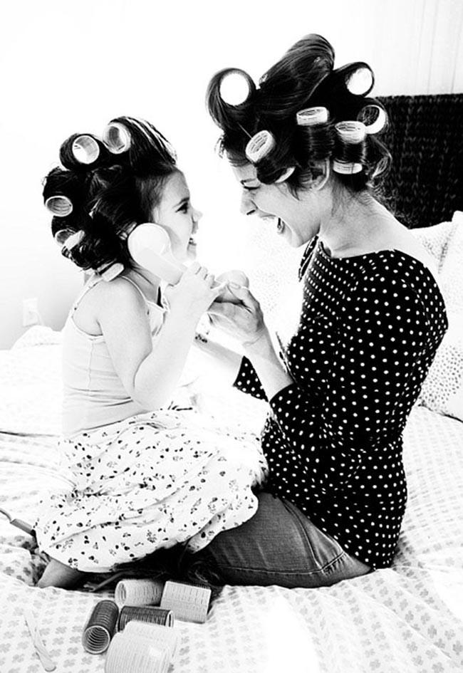 Genitori e figli: quando le pose sono identiche