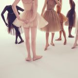 Le ballerine nude in vendita a partire da 595 dollari.