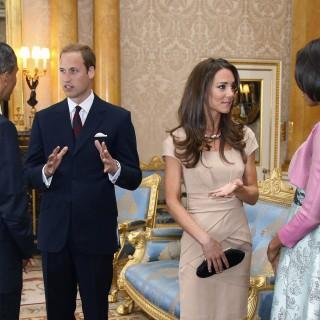 Kate Middleton e il principe William ospitano gli Obama