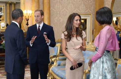 Kate Middleton e il principe William ospitano gli Obama a Kensington Palace