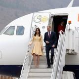 L'arrivo di Kate Middleton e il principe William in Bhutan