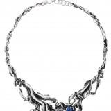 Giovanni Raspini, girocollo in argento con quarzi drotermali (495 euro)