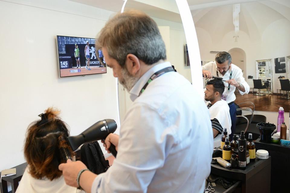Tessier Hairdresser agli Internazionali di Tennis di Roma 2016