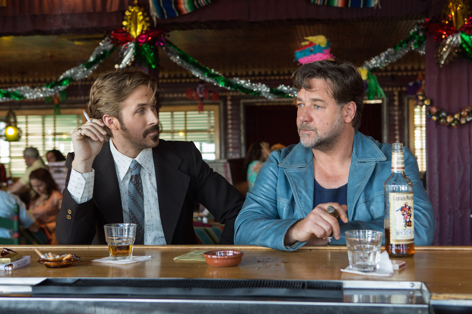 Russell Crowe e Ryan Gosling a Roma per The nice guys