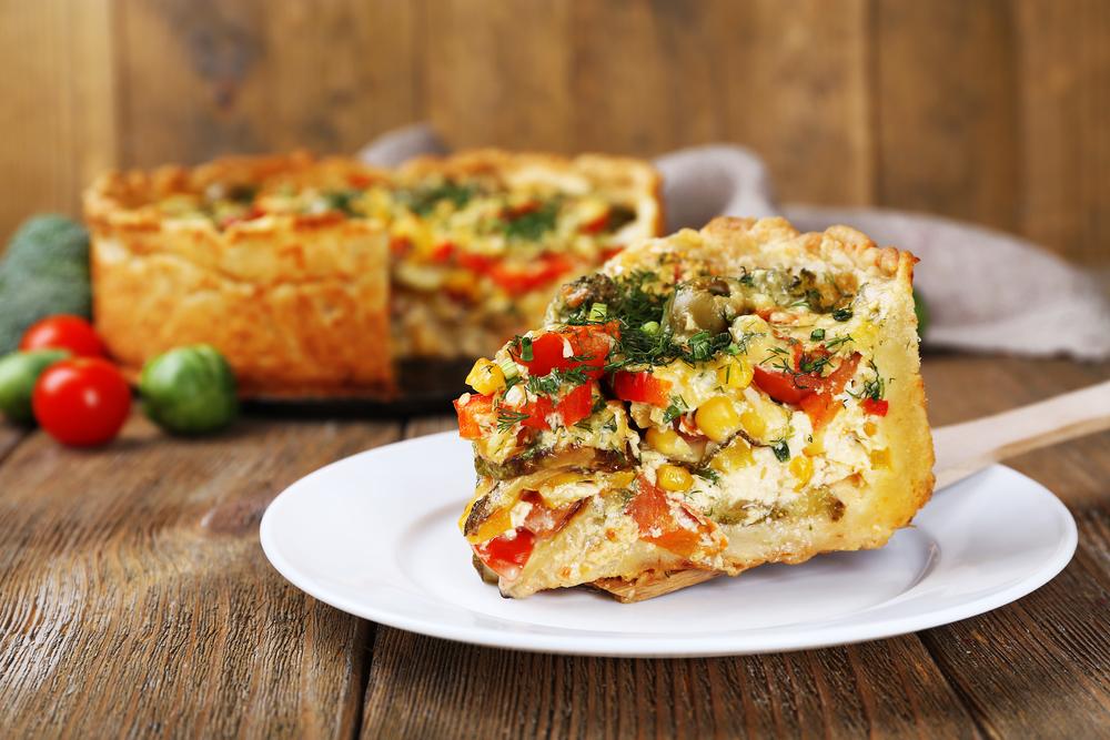 primi piatti estivi facili e veloci: torta salata di verdure