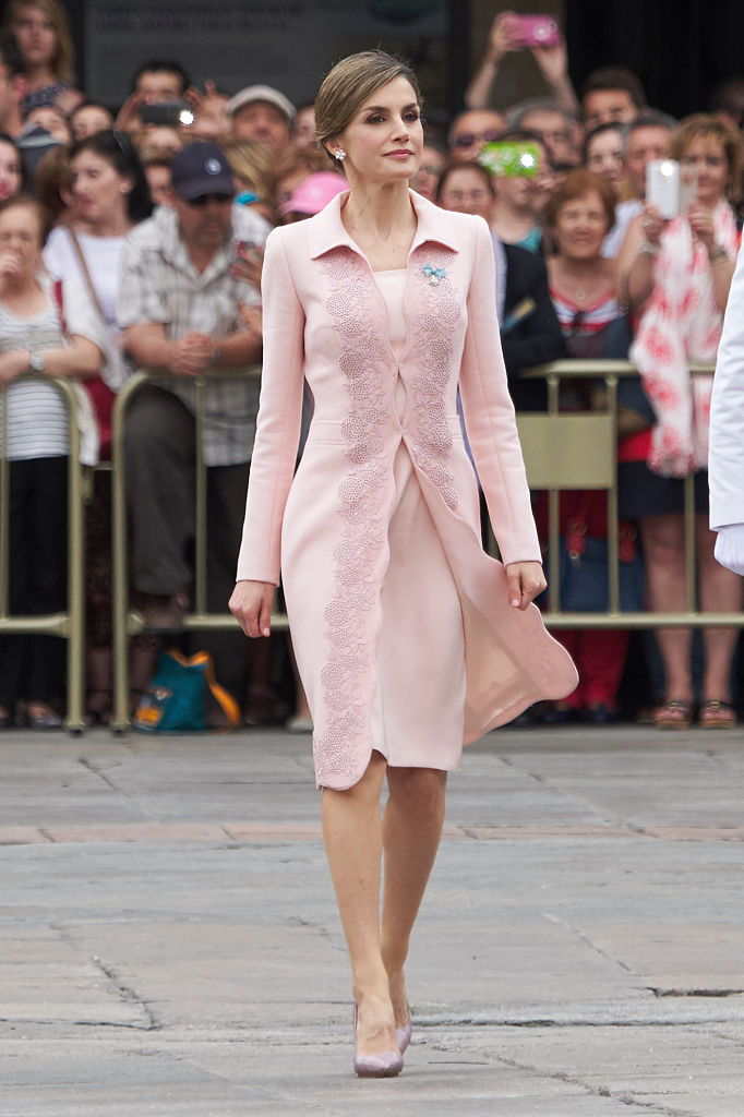 Queen Letizia Delivers New National Flag To Speciality Of Engineers Regiment Number 11