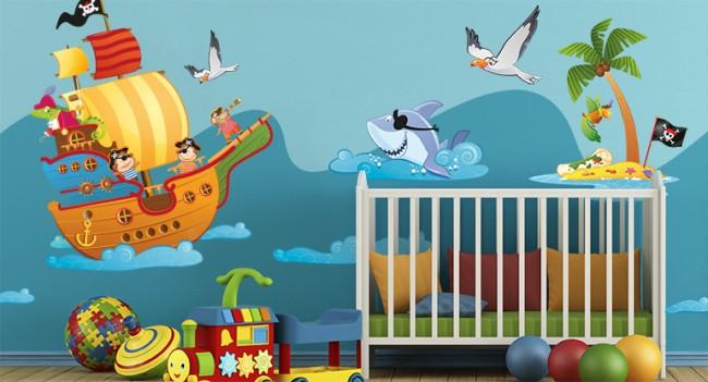 Adesivi murali bambini le proposte per decorare la - Adesivi murali bambini ikea ...