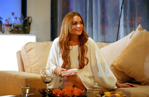 Lindsey Lohan aggradita dall'ex fidanzato Egor Tarabasov, foto