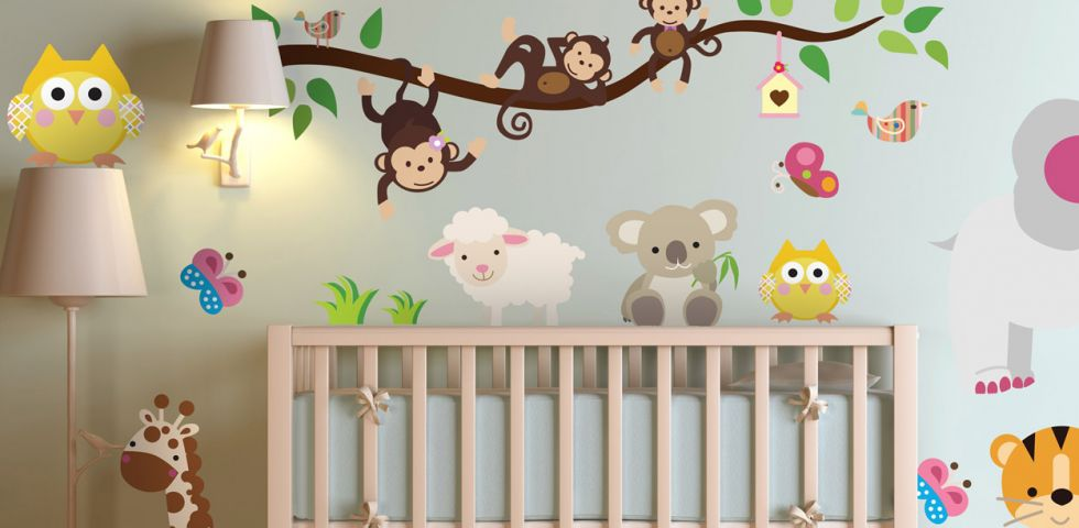 Adesivi murali bambini: idee per decorare   DireDonna