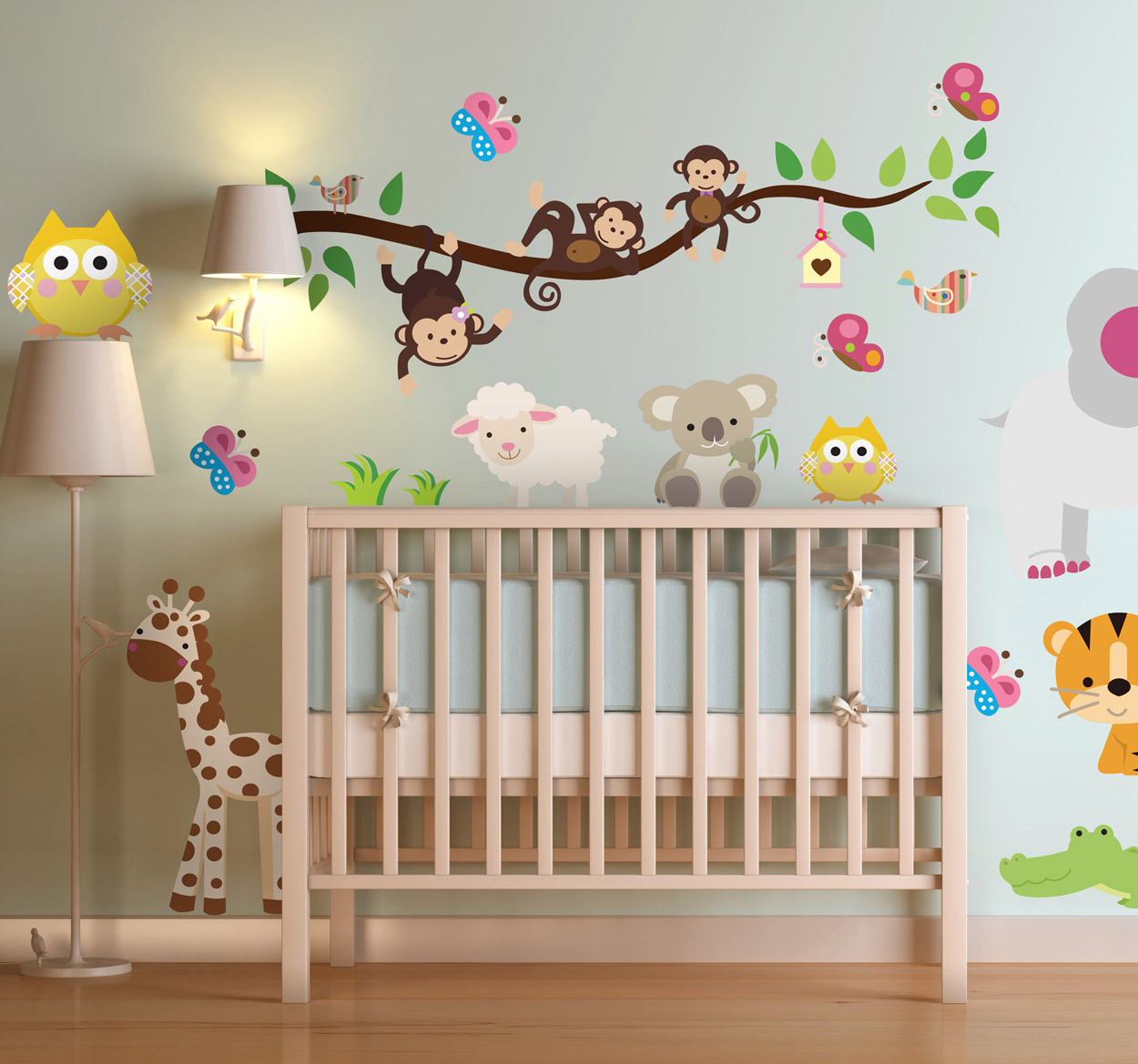 Cool adesivi murali bambini idee per decorare with - Decorare cameretta neonato ...