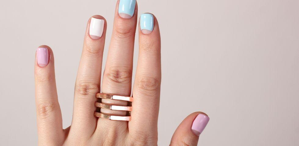 unghie gel semplici