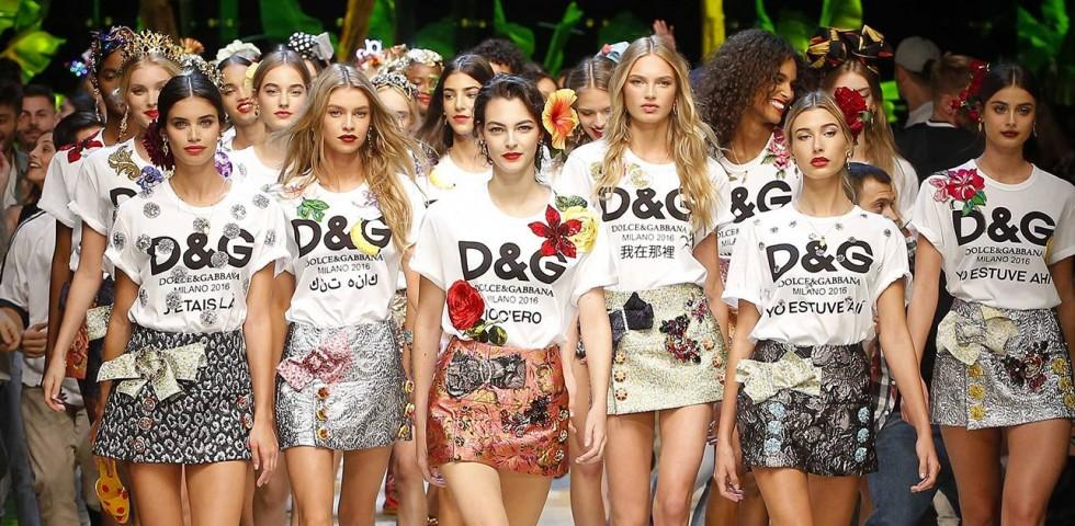Dolce   Gabbana Primavera Estate 2017  la sfilata a Milano - DireDonna cbf3be980ac