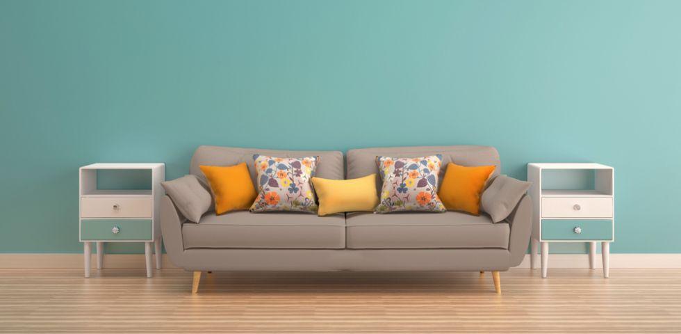 Come abbinare il parquet al colore delle pareti diredonna for Divano blu colore pareti