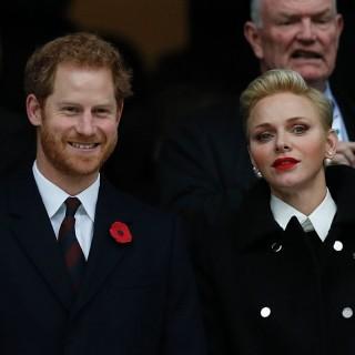 Charlene di Monaco e il Principe Harry insieme per il rugby