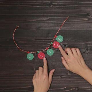 Il tutorial per realizzare il segnaposto natalizio
