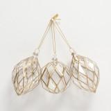 Zara Home Decorazioni albero geometrie dorate 11,99 euro per 3 pezzi