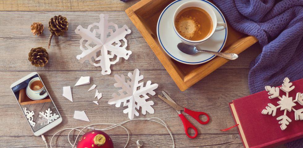 Lavoretti Di Natale Con Colla Vinilica.Lavoretti Di Natale Con Carta Diredonna