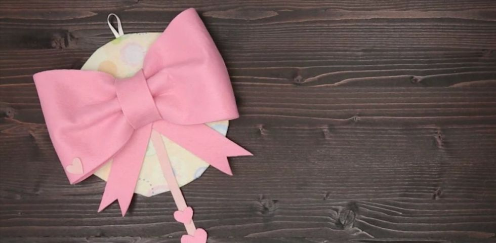 Fiocco rosa per nascita fai da te tutorial diredonna for Rastrelliera per fucili fai da te