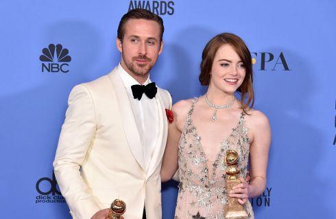 La La Land trionfa ai Golden Globe 2017: le reazioni di Emma Stone e Ryan Gosling