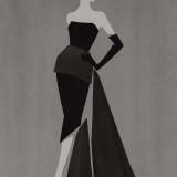 FracDress di Dior del 1949, illustrazione di Mats Gustafson