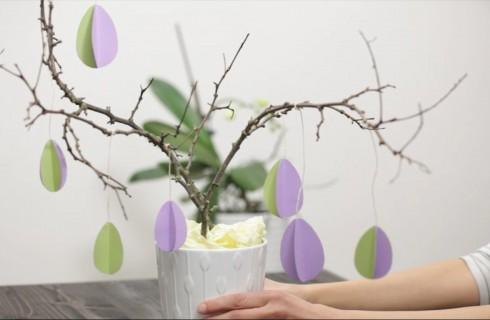 Come fare l'albero di Pasqua: il video per fare la decorazione pasquale