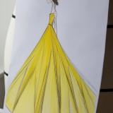 Il disegno dell'abito Dior indossato da Emma Watson (©Sophie-Carre)