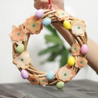 Il tutorial per fare la ghirlanda di Pasqua