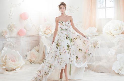 Vestiti da sposa 2018 corti e colorati