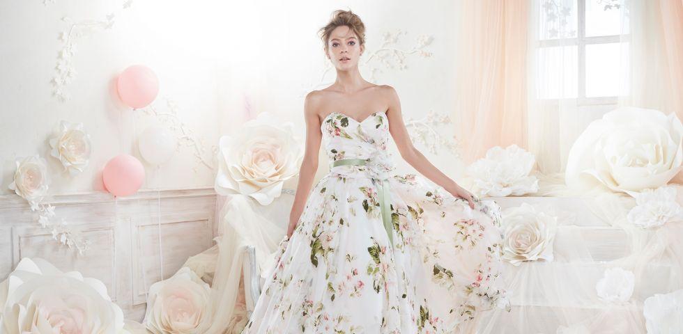 Eccezionale Vestiti da sposa 2018 corti e colorati | DireDonna PY42