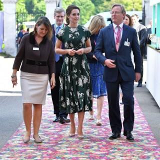 Kate Middleton inaugura con la Regina il Chelsea Flower Show
