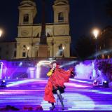 Róisín Murphy durante il lancio di Goldea The Roman Night a Piazza di Spagna