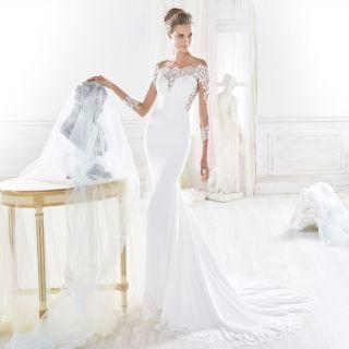 Vestiti da sposa 2018 a sirena foto diredonna for Buffetti trento