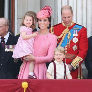 Kate Middleton: look coordinato in famiglia per la parata