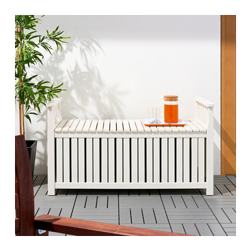 Ikea  ÄNGSÖ Panca con contenitore, mordente bianco bianco € 169,90