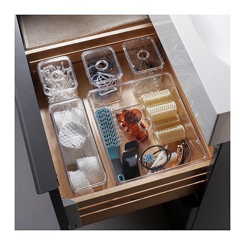 Ikea GODMORGON Set di 5 scatole con coperchio, trasparente € 12,99