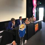 Paolo Ruffini, Arisa e Max Giusti alla presentazione di Cattivissimo me 3