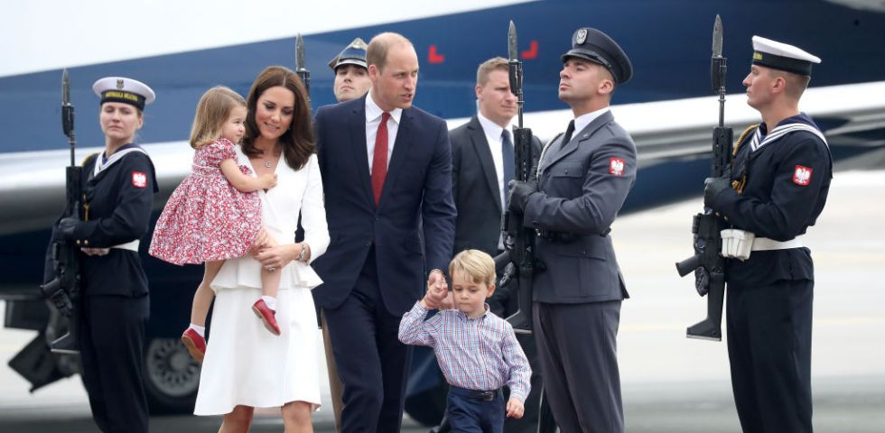 Kate Middleton e il principe William in Polonia con George e Charlotte (foto)