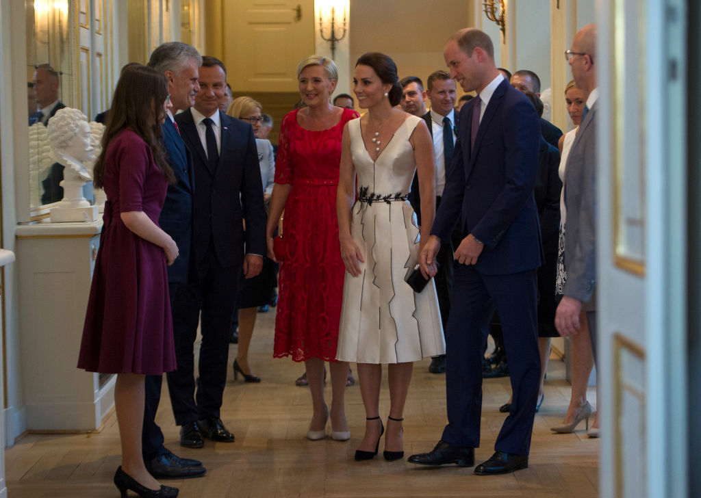 Kate Middleton e il principe William in Polonia con George e Charlotte, foto