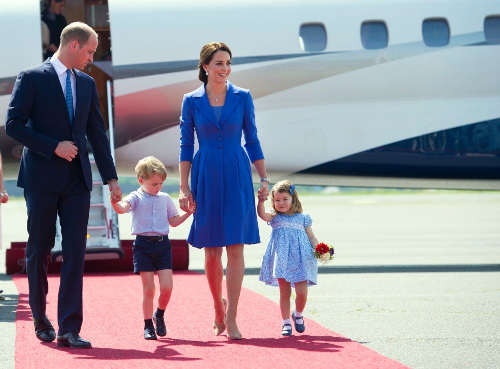 Kate Middleton e il principe William con George e Charlotte a Berlino, foto