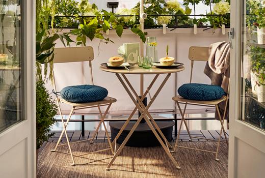 Tavolo Da Terrazzo Ikea : Come arredare il balcone piccolo soluzioni ikea diredonna