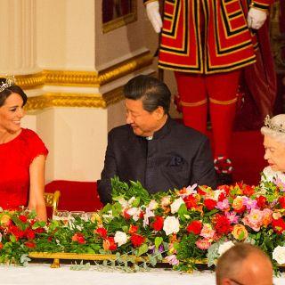 Kate Middleton e Letizia Ortiz insieme al banchetto di stato