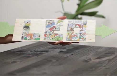 Decorazioni per la cameretta dei bambini: il tutorial per fare la targhetta con il nome