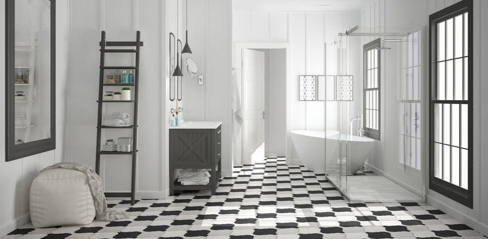 Come scegliere le piastrelle per il bagno diredonna - Come piastrellare il bagno ...