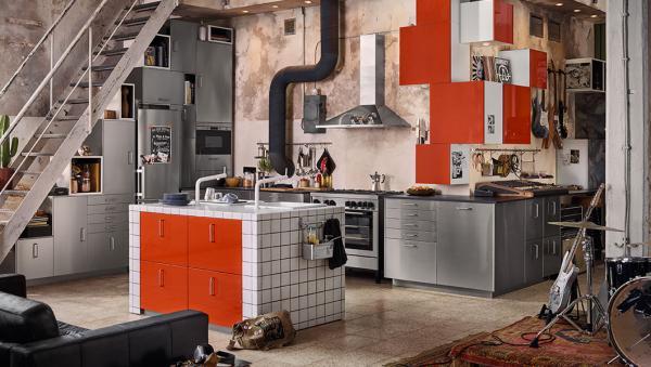 Cucina Ikea stile urban