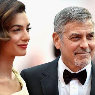 Amal in forma dopo il parto a Venezia con George Clooney