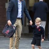 Il primo giorno di scuola per il Principe George